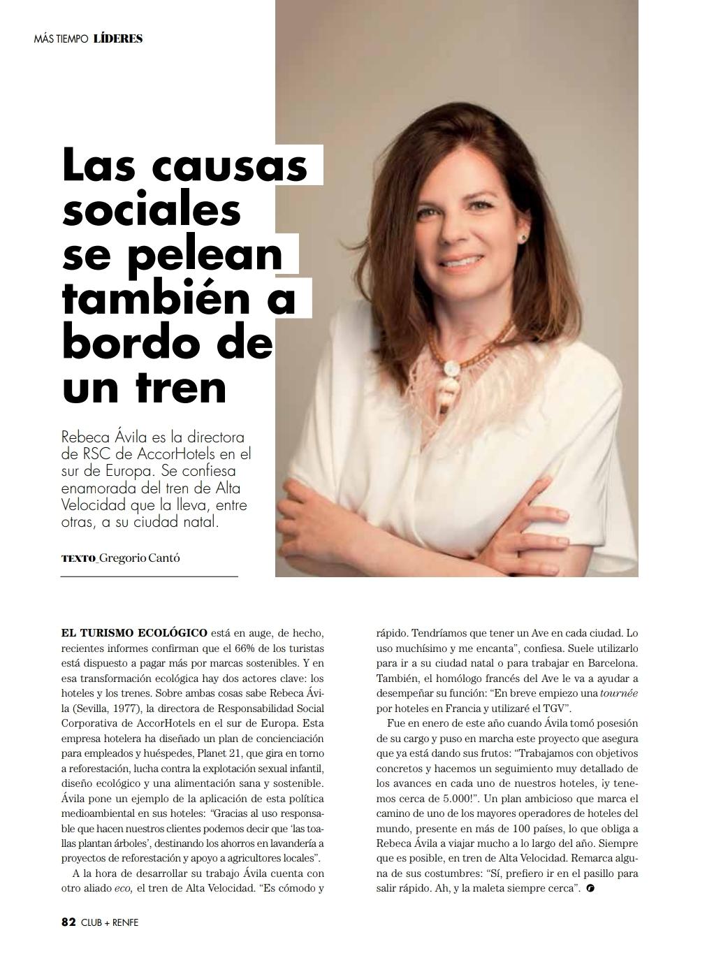 Revista Club Renfe / Sección Líderes / Las causas sociales también se pelean a bordo de un tren